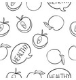 doodle of apple fruit collection vector image