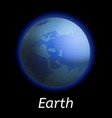 earth planet icon realistic style vector image vector image
