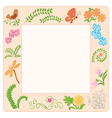 frame with nature elements vector image vector image