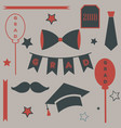 graduation package two thousand eighteen paper vector image