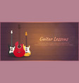 guitar lessons school flat vector image