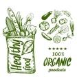 Hand Drawn Healthy Food Bag vector image vector image
