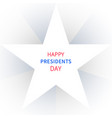 happy presidents day greeting banner vector image