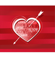 Heart struck by arrows vector image vector image