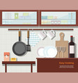 home interior of kitchen vector image vector image