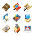 Icon concepts for work vector image