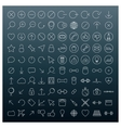 Icons of thin lines vector image vector image