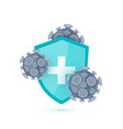 immune system icon in cartoon style vector image vector image
