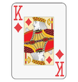 Jumbo index king of diamonds vector image vector image