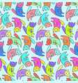 kids pattern with cute colorful cats vector image vector image