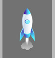launching rocket craft icon vector image vector image