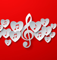 Love Music Concept Design vector image vector image