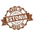 made in estonia round seal vector image vector image