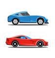 model of profile cars car cartoon designs in prof vector image