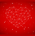modern heart made from triangles vector image vector image