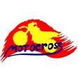 Motocross background vector image
