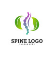 nature spine logo design concept chiropractic vector image
