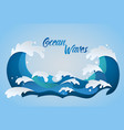 ocean waves color vector image vector image
