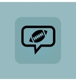 Pale blue rugby message icon vector image vector image