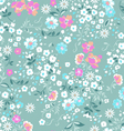 Pastel pink and blue ditsy background vector image vector image