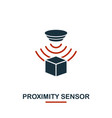 proximity sensor icon from sensors icons vector image vector image