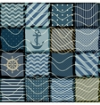 quilting design in nautical style vector image vector image