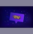 quiz lettering card vector image