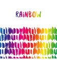rainbow border colorful decoration template for vector image