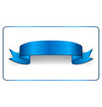 ribbon banner satin blank collection vector image vector image