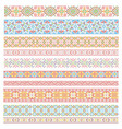 set of traditional national embroidery patterns vector image