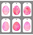 set tags for easter watercolor silhouettes eggs vector image vector image