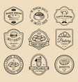 set vintage bakery logos retro emblems vector image vector image