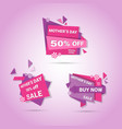 shopping sale happy mother day discount sticker vector image