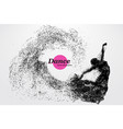 silhouette of a dancing girl from particle dancer vector image