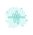 sound wave icon in comic style heart beat cartoon vector image