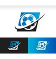 Swoosh Soccer Ball Logo Icon vector image vector image