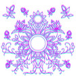 symmetrical pattern of flowers print for textiles vector image vector image