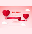 valentines day seasonal sale hot air balloons vector image vector image