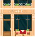 vintage cafe house building facade vector image vector image