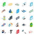 webcam icons set isometric style vector image