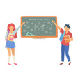 welcome to our family chalkboard in classroom vector image