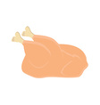 Whole raw chicken vector image vector image
