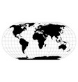world map in robinson projection with meridians vector image vector image