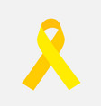 yellow awareness ribbon on gray background bone vector image