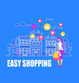 young womanmaking easy shopping online purchase vector image vector image