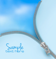 zipper sky background vector image vector image