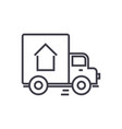 delivery truck line icon sign vector image