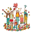 Kids playing room toys isolate on white vector image