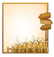 A frame with three wooden arrows vector image vector image