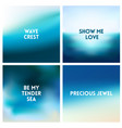 abstract beach blurred background set 4 vector image